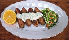 Kangaroo Kofta Salad with Tzatziki and Tabouleh - Good Chef Bad Chef Cooking Tv, Healthy Cooking, Healthy Dinner Recipes, Healthy Food, Healthy Eating, Mince Recipes, Chef Recipes, Cooking Recipes, Kangaroo Meat Recipe