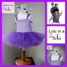 Boo Monster Inc. Inspired Tutu by Lulu in a Tutu  Visit https://www.facebook.com/LuluinaTutu for more tutu designs