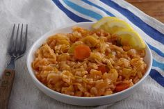 √ Prei wortel risotto.  Deze risotto heeft de rijke smaak van prei gecombineerd met fris citroensap.