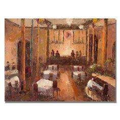 'Cafe Italia' Painting Print on Canvas