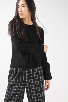 Tie Fluted Sleeve Knitted Top - New In This Week - New In - Topshop Europe