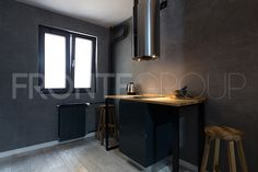 Corners for two. In the kitchen. Small Places, Smart Design, Industrial Style, Kitchen Design, Urban, Technology, Interior Design, Mirror, Grey