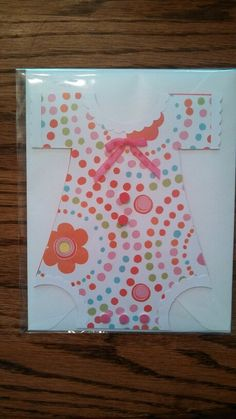Baby Girl Romper Card