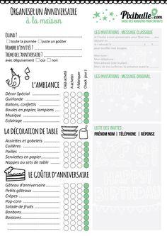 Une checklist à télécharger gratuitement pour organiser un anniversaire à la maison.