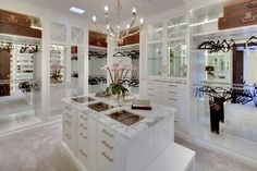 My DREAM closet! So clean and chic and spacious.