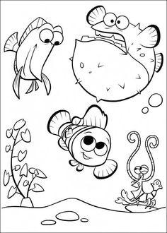 Disegni da colorare per bambini. Colorare e stampa Alla ricerca di Nemo 35