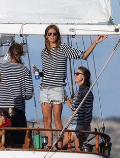 classic stripes x 3 + classic sailboat