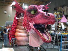 TCS Shrek Dragon Progress 10/08 Shrek Dragon, Puppets, Plays, Creative Ideas, Musicals, Halloween, Projects, Art, Instruments