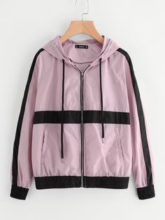 Teen Fashion Outfits, Casual Outfits, Cute Outfits, Moda Outfits, Skirt Outfits, Windbreaker Jacket, Hoodie Jacket, Trendy Hoodies, Vetement Fashion