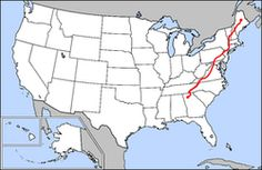 Map of Appalachian Trail.png  #ExpediaWanderlust