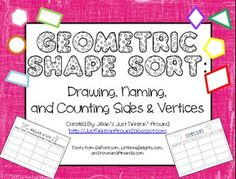 Free on TpT 4th Grade: Geometric Shape Sort- so not a fourth grade thing, my firsties can do this!