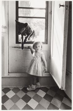 Just try and keep The Black Dog out (George Zimbel - Girl and Dog)
