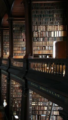 theladyintweed: Beautiful Libraries: The Long Room, Trinity College Dublin, Ireland.