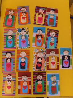 Fathers day cards- have them next to each other instead Family Crafts, Fun Crafts For Kids, Art For Kids, Diy And Crafts, Arts And Crafts, Birthday Display, Dad Day, Fathers Day Crafts, Mother And Father