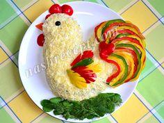 Новогодний салат Петух