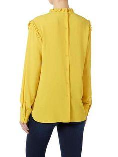 New Mist Long Sleeved Frill Collar Blouse | £80.00 (Autumn/Winter 2017)  https://www.houseoffraser.co.uk/women/second-female-ne...