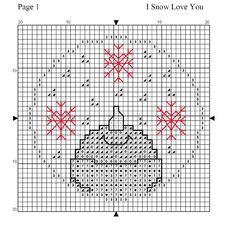 I snow love you (grille à télécharger en Pdf)