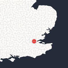 London detail #maze #artwork #maps #uk #mickallan http://ift.tt/1RNihty