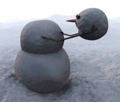 Calvin and Hobbes, headless snowman! Frosty The Snowmen, Cute Snowman, Christmas Snowman, Christmas Time, Snow Scenes, Winter Scenes, Winter Fun, Winter Time, Calvin And Hobbes Snowmen