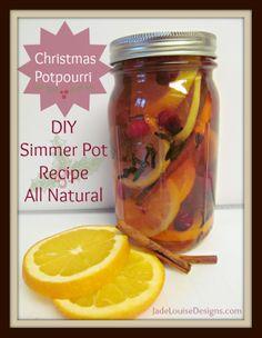 Christmas Potpourri Simmer Pot Recipe #potpourri #DIY #Christmas