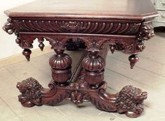 Gorgeous Renaissance Style Dining Table | From a unique collection of antique and modern dining room tables at https://www.1stdibs.com/furniture/tables/dining-room-tables/