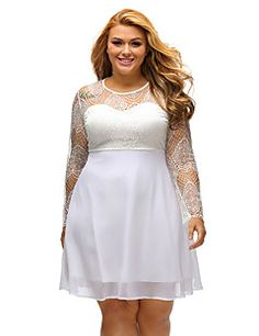 Women's+Boohoo+Plus+Size+Lace+Top+Skater+Dress+–+GBP+£+16.39