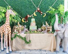 2 Birthday, Safari Theme Birthday, Boys 1st Birthday Party Ideas, Jungle Theme Parties, Wild One Birthday Party, Jungle Party, 2 Baby, Deco Originale, Baby Shower Balloons