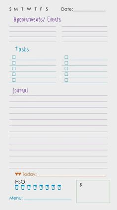 "theparisiandreamer: ""Here are the planner printables! Just click on ..."