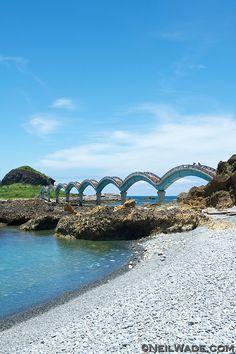 The Sanxiantai Dragon Bridge near Taitung, Taiwan is a beautiful tourist attraction on the east coast. ~Neil Wade Photography