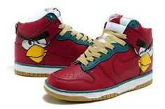 Mens Nike Dunk Pro Sb Sneakers Angry Birds Red        #Red  #Womens #Sneakers