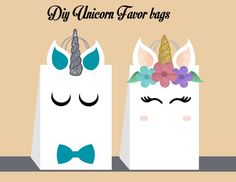 New Gifts Birthday Diy Products Ideas 4th Birthday Parties, Birthday Diy, Birthday Party Favors, Birthday Party Decorations, Birthday Gifts, Craft Party, Unicorn Diy, Unicorn Party Bags, Unicorn Gift Bags
