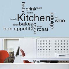 Kitchen decal idea (above stove area)*
