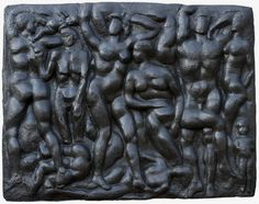 """""""Pastoral or Third Sculptural Symphony II"""", 1933-1957, cast 1971-1973, Saul Baizerman, American, b. Russia (1889-1957), bronze relief, 96 x 120 x 11 in. Gift of Carl and Emma S. Avery Jeffress in memory of Edwin B. and Louise Adams Jeffress, 1973. 1973.1882.2"""
