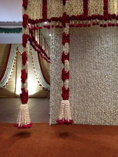 Hanging flower decorations with flower rings