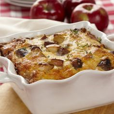 Breakfast Sausage, Apple and Cheese Casserole