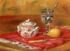 Still LIfe with Glass and Lemon. Pierre Auguste Renoir