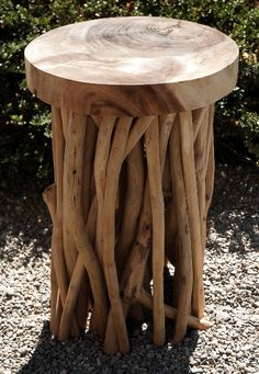 Zuna Natural Driftwood Pedestal 20 5 X 13 5 Wood Patio Furnituredriftwood
