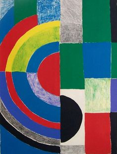 Sonia Delaunay, Ukrainian-born French Abstract Painter and Designer (1885-1979). Color Rhythms.