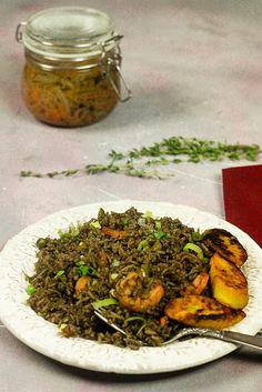 Haitian Black Mushroom Rice with Shrimp