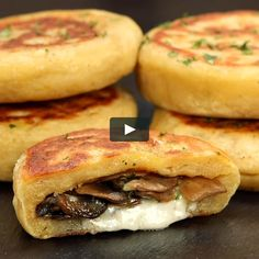"""This is """"Medaglioni di patate con funghi e provola"""" by Al.ta Cucina on Vimeo, the home for high quality videos and the people who love them. Healthy Dinner Recipes, Vegetarian Recipes, Cooking Recipes, Cooking Eggs, Cooking Games, Food Platters, Food Dishes, Ground Beef Recipes, Diy Food"""
