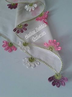Çok beğendim Embroidery Stitches, Tatting, Needlework, Crochet, Embroidery, Dressmaking, Couture, Bobbin Lace, Handarbeit