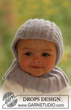 Чепчик спицами для новорожденного узором резинка