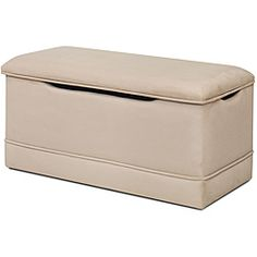 Need for kids rooms! @Overstock - This beautifully crafted toy box is perfect for your little one's toys and goodies. This toy box has extra touches such as piping on the lid and bottom band of the toy box for that designer look.http://www.overstock.com/Home-Garden/Magical-Harmony-Kids-Beige-Microfiber-Deluxe-Toy-Box/6291004/product.html?CID=214117 $108.99