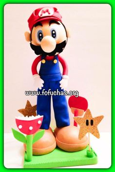 This is a 12 inch centerpiece. He was made inspired on Mario Bros character, it is all made from craft foam, hand painted to give him a beautiful finish. I can add your child's name at no additional cost. If you have any questions please message me. you can also visit my page at facebook.com/fofuchashandmadedolls so many more characters to see! www.fofuchas.org  #SuperMario #Nintendo #fofuchas