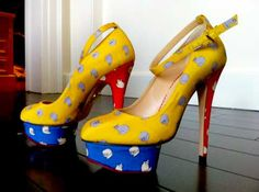 Shoesday: Victoria Beckham Cat Print Heels