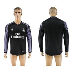 Real Madrid 16-17 TRødje Trøje Langærmet.  http://www.fodboldsports.com/real-madrid-16-17-trodje-troje-langermet.  #fodboldtrøjer