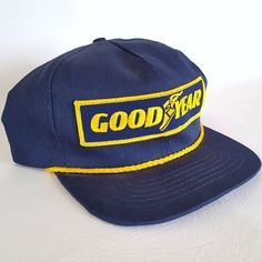 8c50258a Details about Vtg Goodyear #1 in Racing Blue Made in USA Swingster Snapback  Hat