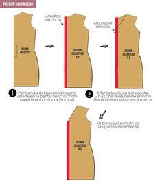 miscelánea diy: DIY | Vestido camisero con lazo a la cintura Diy Vestido, Diy Dress, Diy Shirt, Diy And Crafts, Couture, Sewing, Pattern, Womens Fashion, Casual