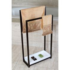 Oil Rubbed Bronze Pedestal 2-tier Iron Construction Towel Rack - Overstock™ Shopping - The Best Prices on Other Bath Accessories