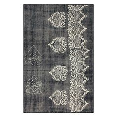 Jalore Rug: My new home color way grey/white/copper/touches of black